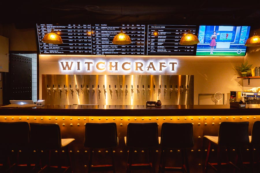 Witchcraft brewery. Restaurants, bars and cafes at The Roof, Xintiandi, Shanghai. Photo by Rachel Gouk @ Nomfluence.