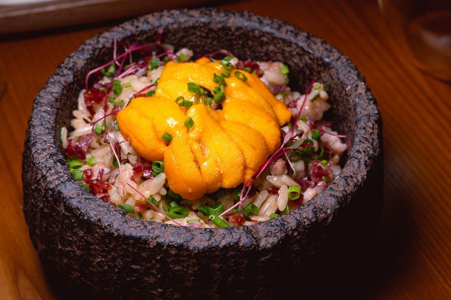 Iberico pork rice at Sakaba Malabar, a Spanish restaurant and bar with Japanese influences in Jing'an, Shanghai. Photo by Rachel Gouk @ Nomfluence.