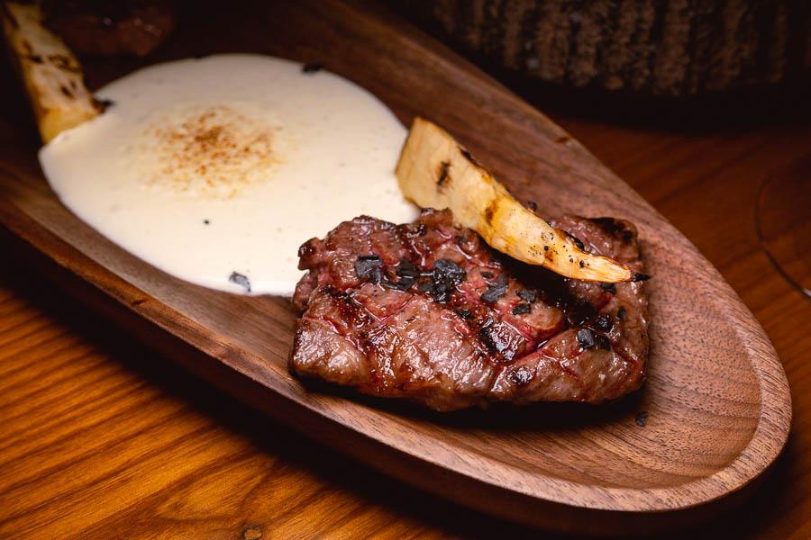 Steak at Sakaba Malabar, a Spanish restaurant and bar with Japanese influences in Jing'an, Shanghai. Photo by Rachel Gouk @ Nomfluence.