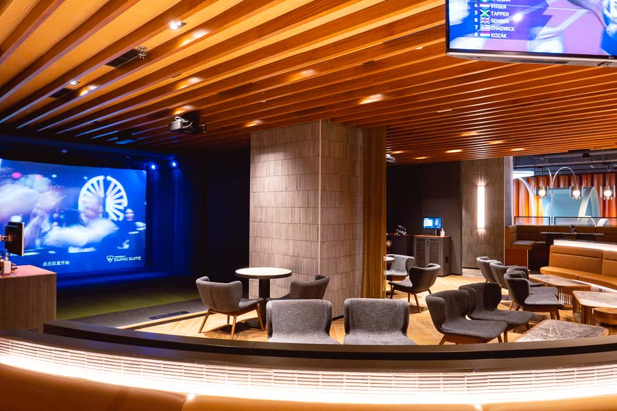 Lounge by Topgolf is a sports entertainment destination in Shanghai that has mini golf and digitized games, and a restaurant and bar. Photo by Rachel Gouk @ Nomfluence